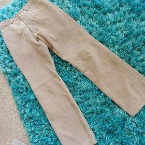 womens tan leather sz 8 Brandon Thomas pants